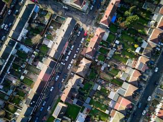 London suburbs, aerial view