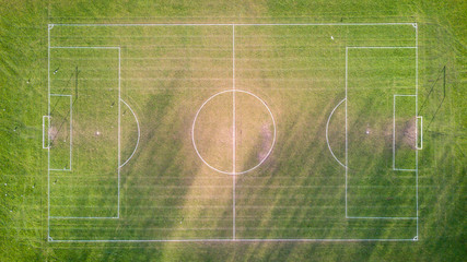 Football pitch, aerial view