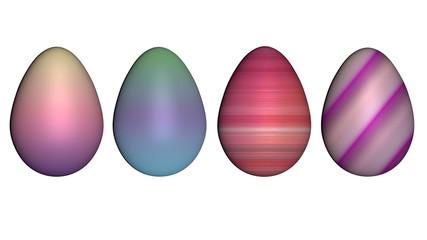 3d-Illustration, Eier in Pastellfarben isoliert