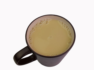 Soy milk , with clipping path.