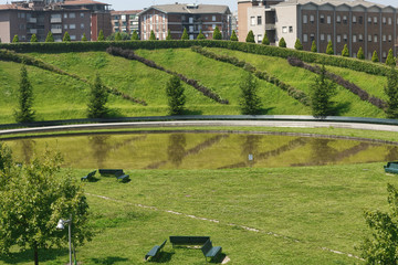Milan (Italy): park at Portello