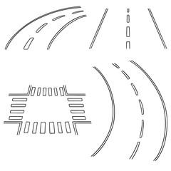 vector set of road