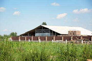Dairy farm on a sunny day