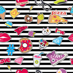 Cap, Sport Footwear, Pizza, Doughnut, Cat, Skull