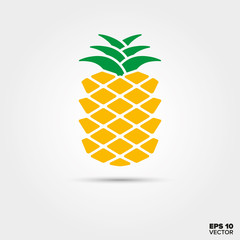 pineapple fruit vector icon