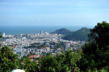 Vung Tau, Vietnam - November 10, 2014: Vung Tau City view from the mountains. Vietnam