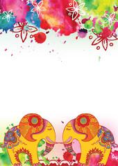 Indian festival Holi. Background