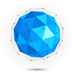 Low poly abstract sphere. Vector
