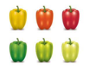 Red Orange Yellow Green Bell Pepper