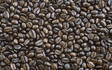 roasted coffee beans,  be used as a background