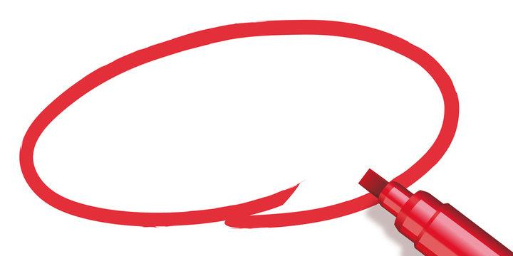 Marqueur - Cercle rouge - présentation - entourer - souligner - bulle