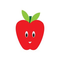 apple cartoon character isolated vector
