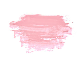 Smudged splash of paint isolated