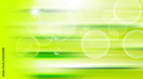 Digital vector green abstract empty background with light