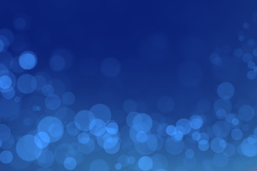 underwater bokeh with blue gradient background