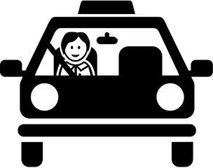 Fototapete - Driving instructor pictogram