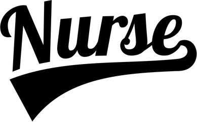 Nurse word retro style