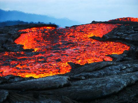 hot lava with heat distorsion