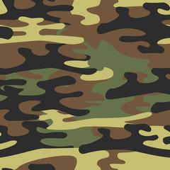 Military Seamless Pattern. Khaki