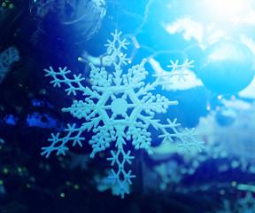 Beautiful toy snowflake hanging