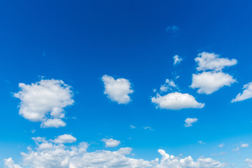 Blue sky with cloud, Beautiful cirrus clouds against the blue sky