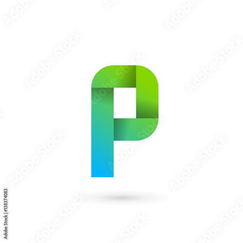 letter p ribbon logo icon design template elements fotolia com の