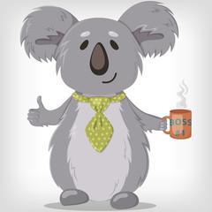 Koala boss #1. Vector illustration of koala