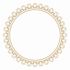 Round frame from the stylized flower buds. Border for decoration postcards, logos, banners, clearance of goods and promotional products.