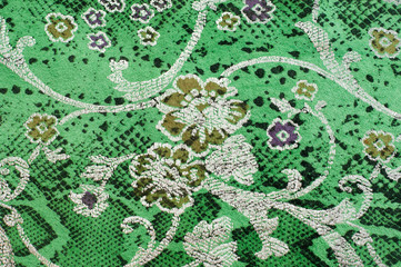 Fototapeten Pistazie The skin texture, green color patterned