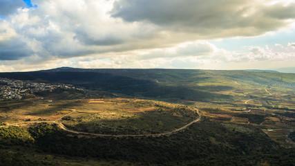 Upper Galilee mountains landscape