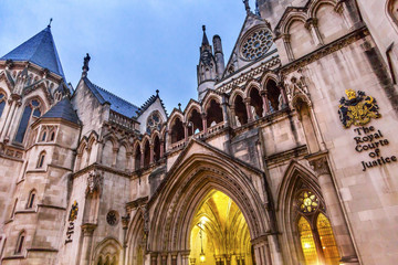 Royal Courts of Justice Old City London England