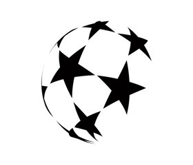 Abstract logo with black stars.