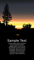 Colorful background for flyer or website design. Neon lights. Orange, yellow, grey and black tones.