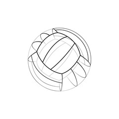 3D logo sketch of volleyball ball.