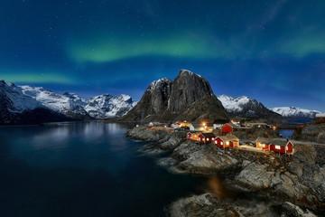 Hamnoy, Lofoten, Norway2017  - aurora borealis