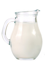jug of milk isolated on white background