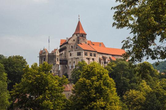 Pernstein Castle, gothic and renaissance castle in Czech Republic.