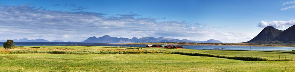 Norway landscape sunny summer panorama