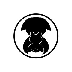 Pets logo design. Logo in the form of a circle