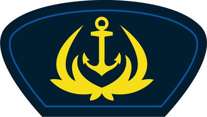 Cartoon Navy Anchor Badge