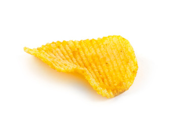 Fried potato chips corrugated
