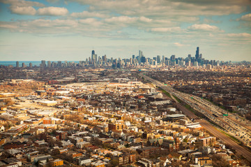 Aerial view of Chicago, Illinois