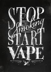 Poster start vape chalk