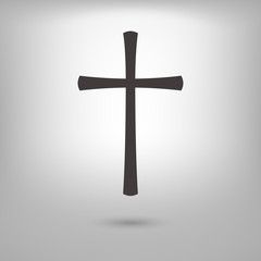 catholic cross icon illustration vector, can be used for web and design