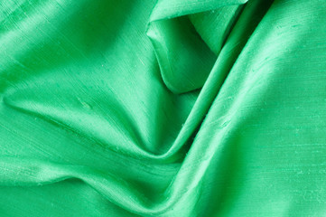 green fabric texture. Useful for background