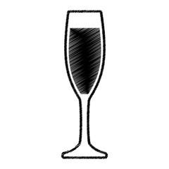 sketch glass cup drink vector illustration eps 10