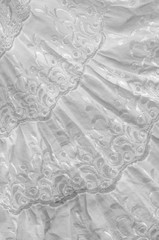 White cotton fabric, with patterns