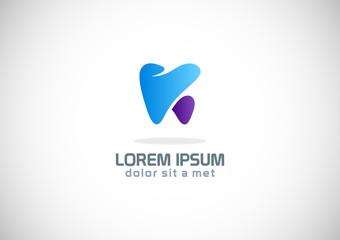 tooth dentist company logo