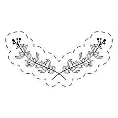 branch decoration thin line vector illustration eps 10