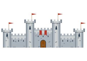 Illustration Of Medieval Castle